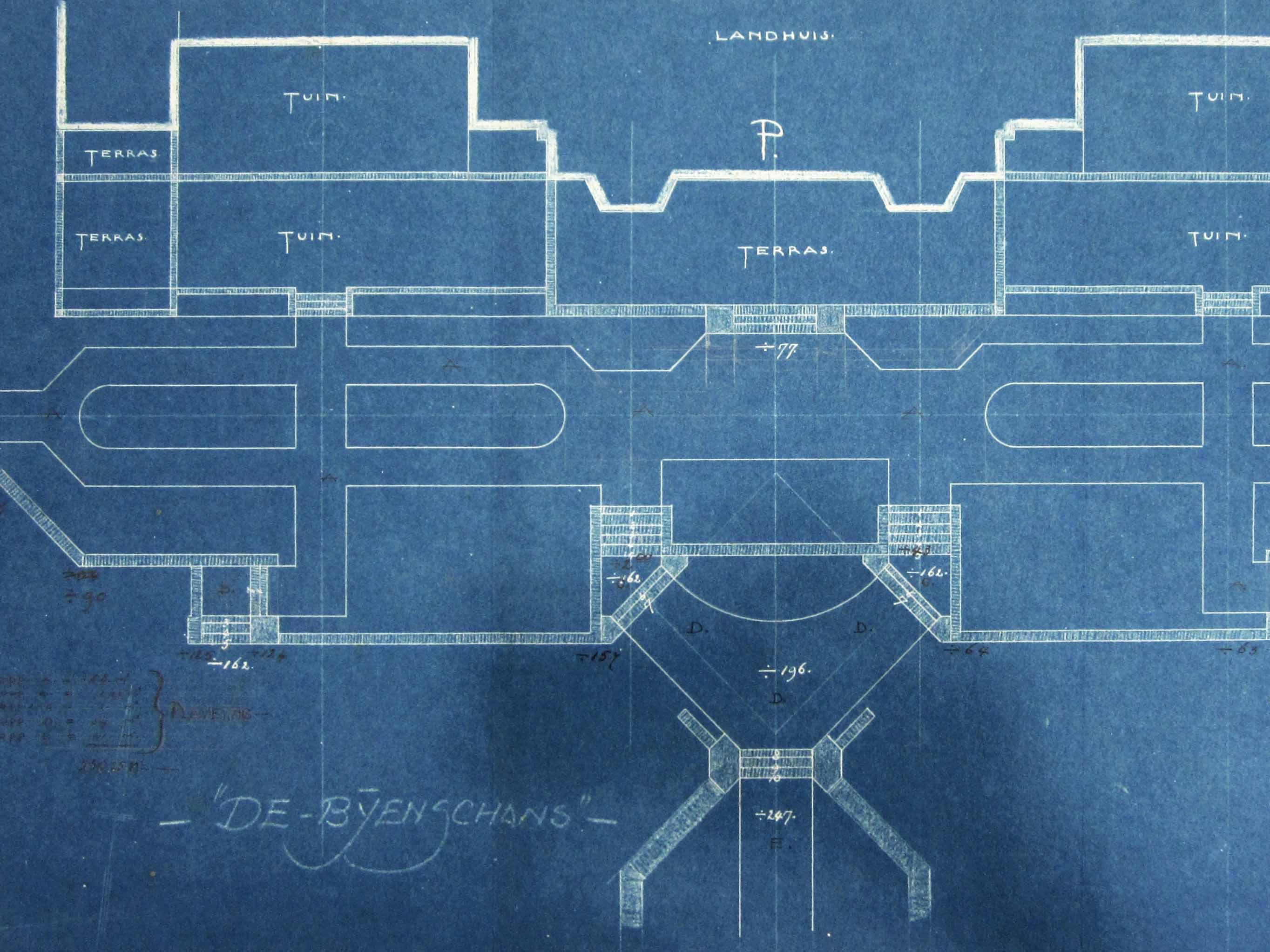 1918, De Bijenschans, ontwerp DF Tersteeg bron WUR Spec. collecties