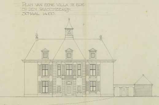 1915 planaanzicht HAJ Baanders, Hooge Paaschbergh
